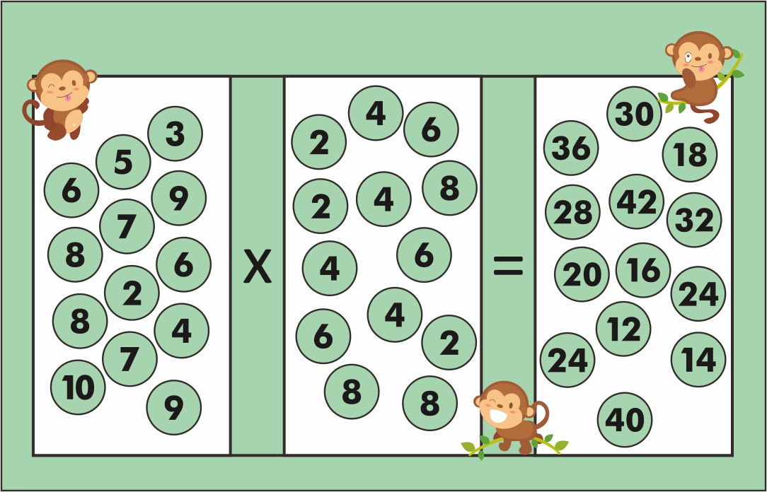 Printable Multiplication Board Games