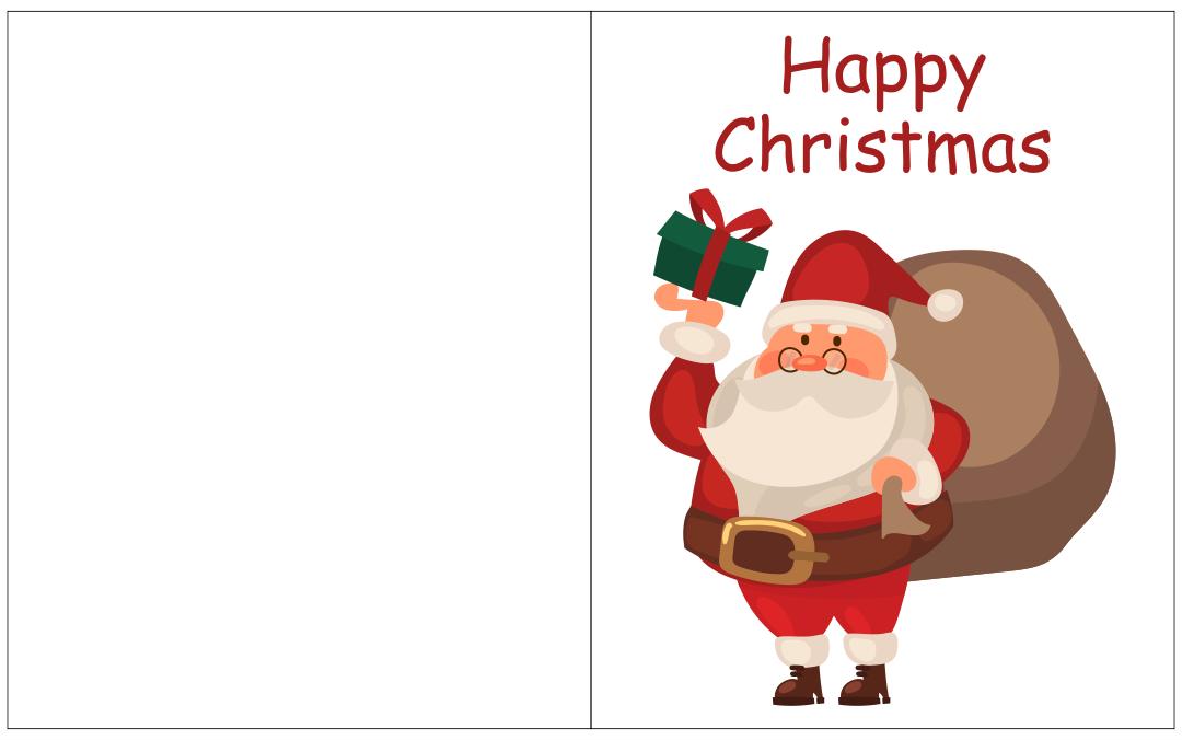 Printable Christmas Card Templates