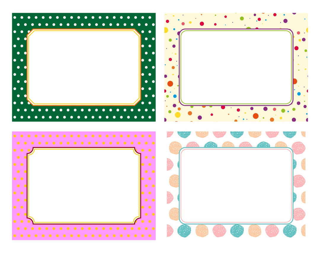 Printable Labels Editable