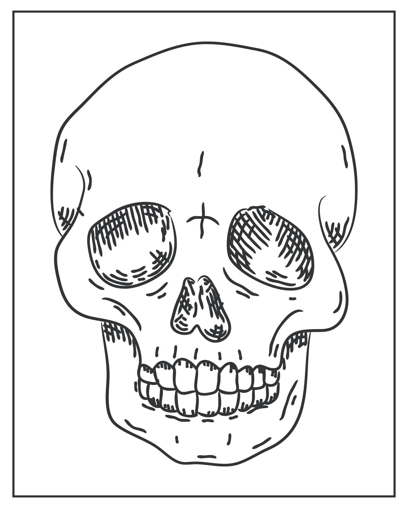 Skull Halloween Printables