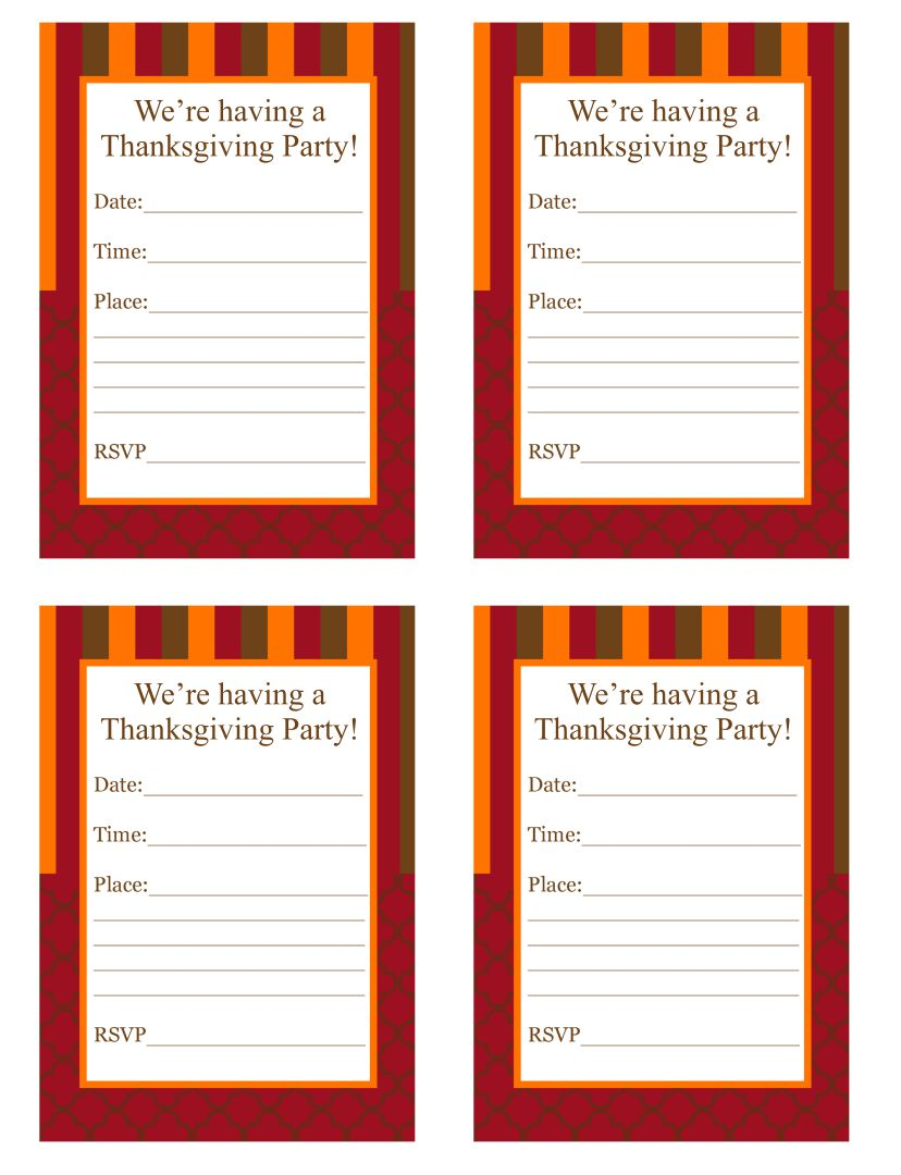 Printable Thanksgiving Templates