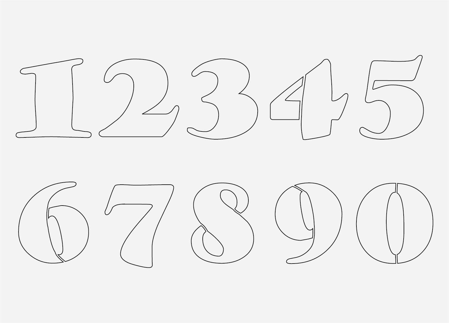 Printable Number Stencils 0-10