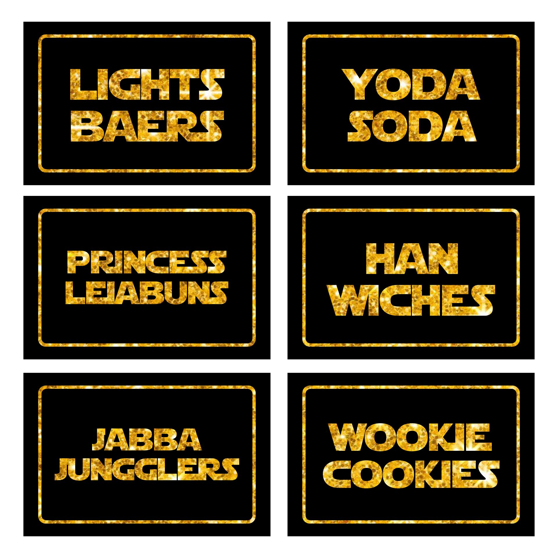 Star Wars Printable Labels