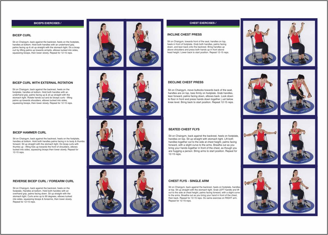 Chair Gym Exercises Printable