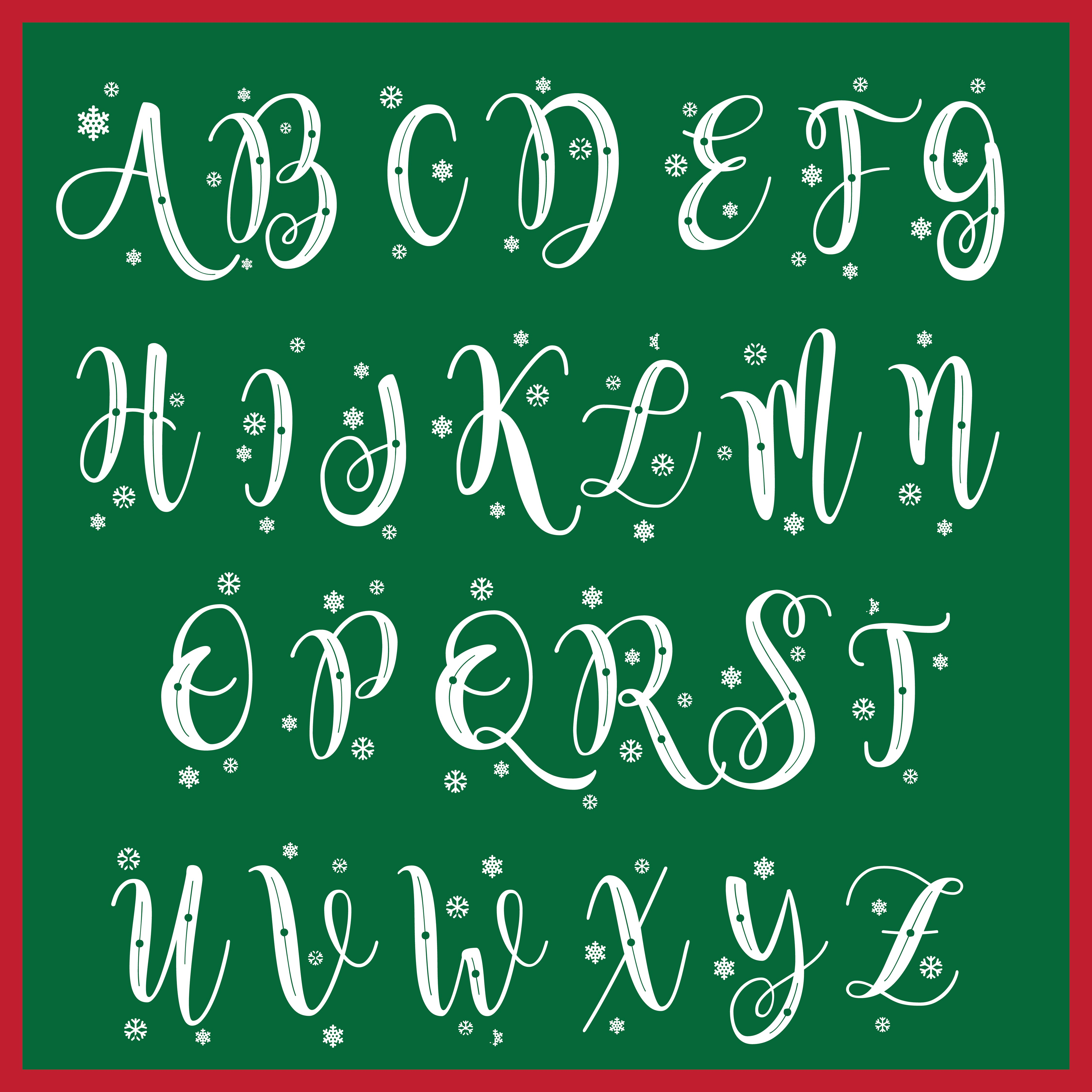 Christmas Printable Chalkboard Letters