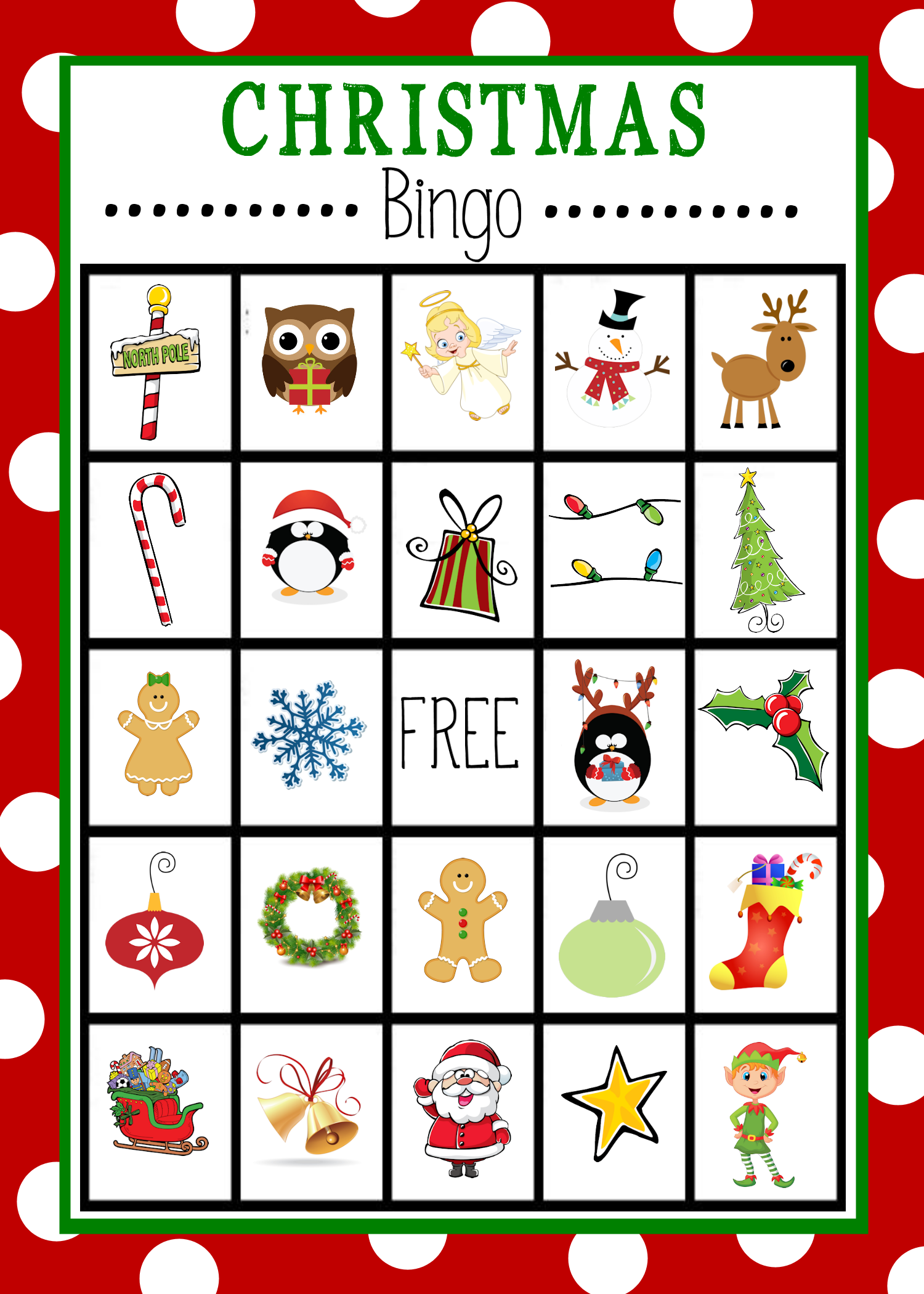 Printable Christmas Bingo Boards