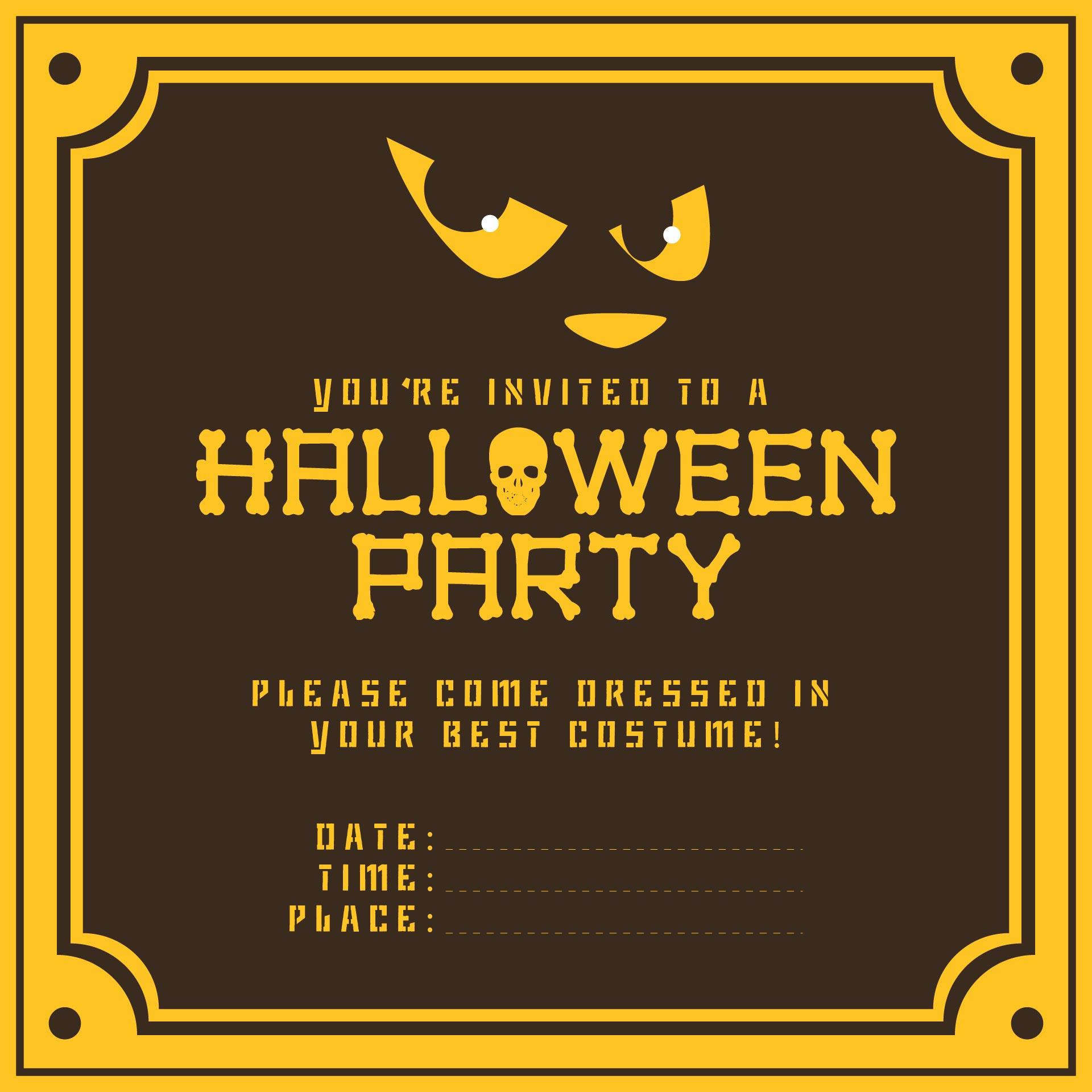 Printable Halloween Invitations Ideas