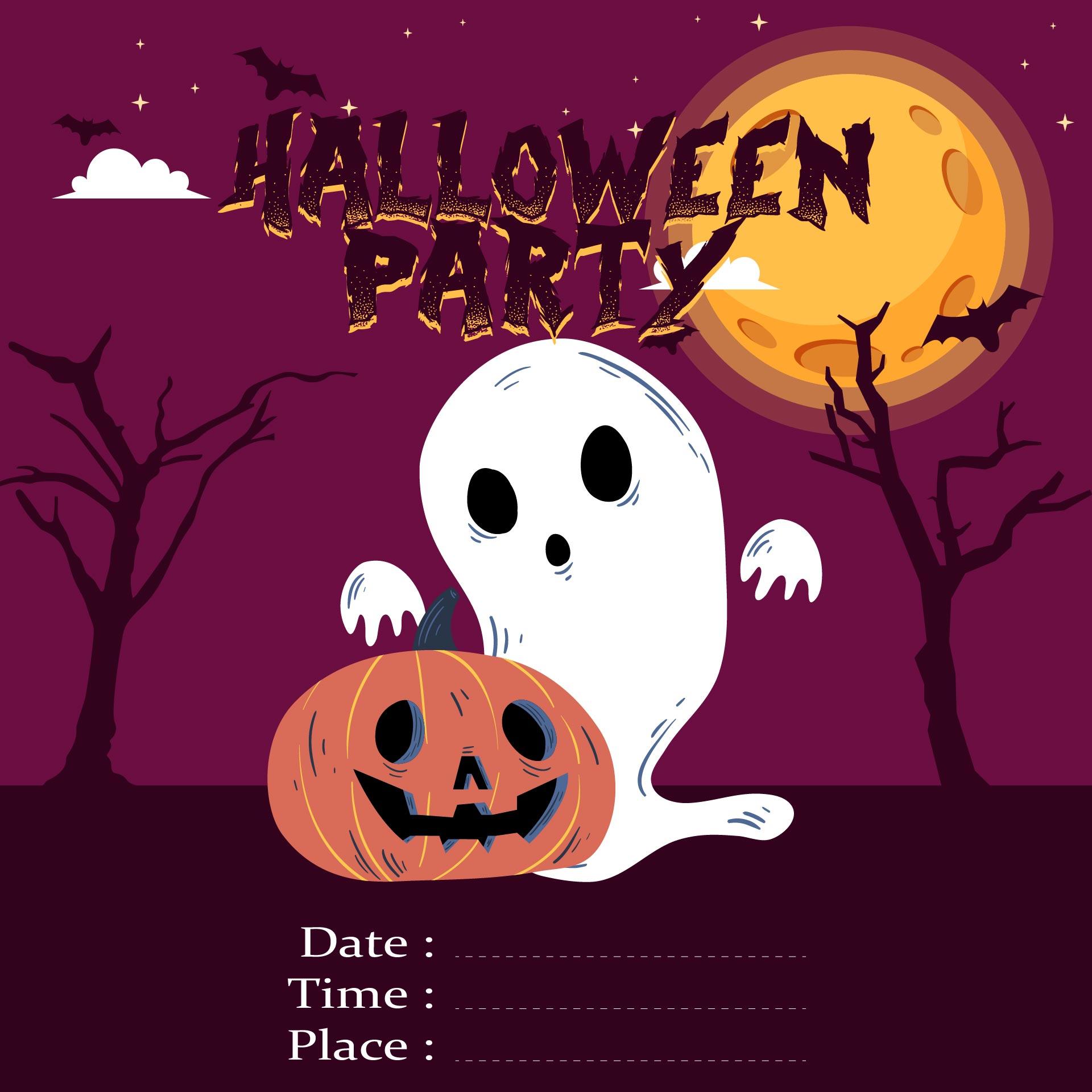 Halloween Printable Party Flyers