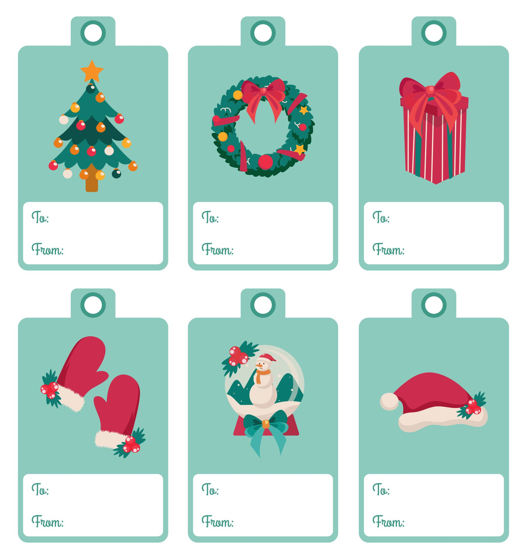 Printable Christmas Tags Templates