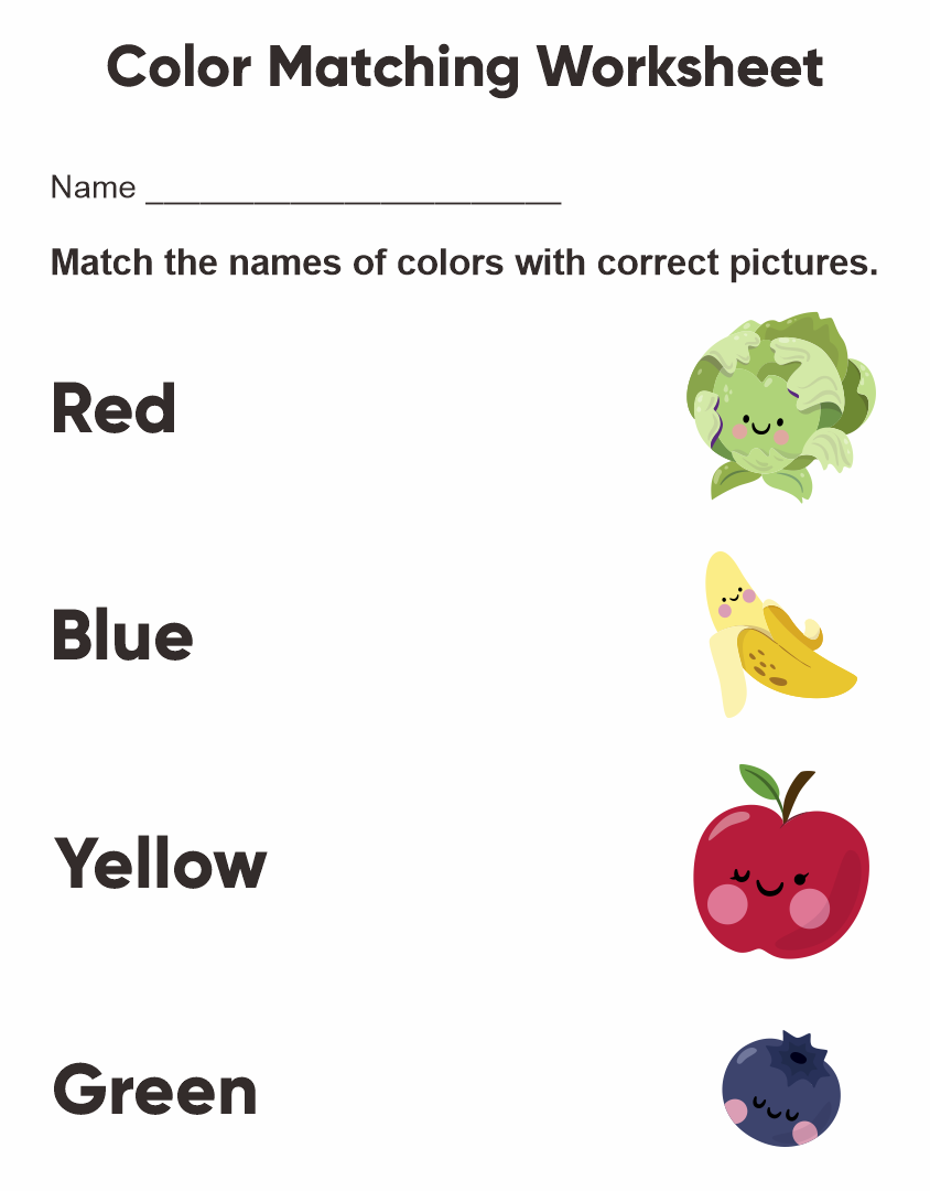 Printable Preschool Worksheets Colors