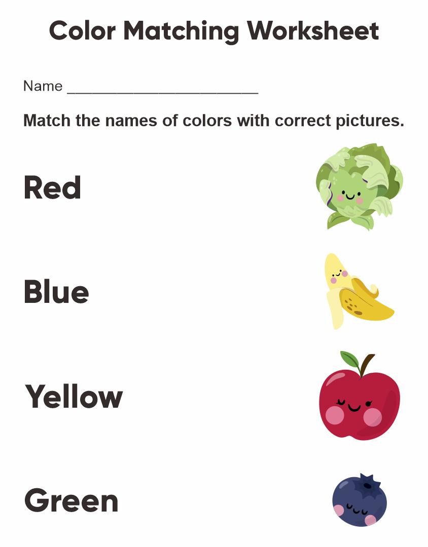 Printable Preschool Worksheets Colors