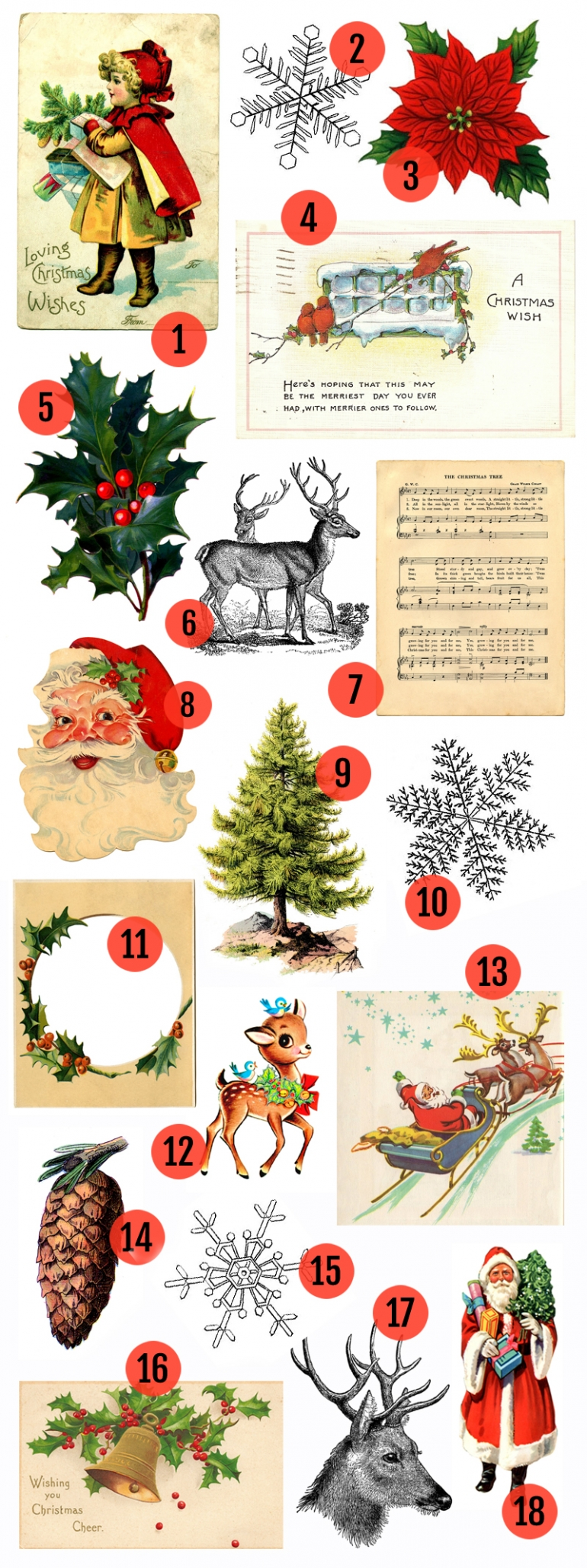 Vintage Christmas Art  Printables