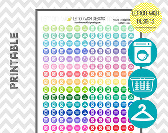 Laundry Printable Stickers For Planners