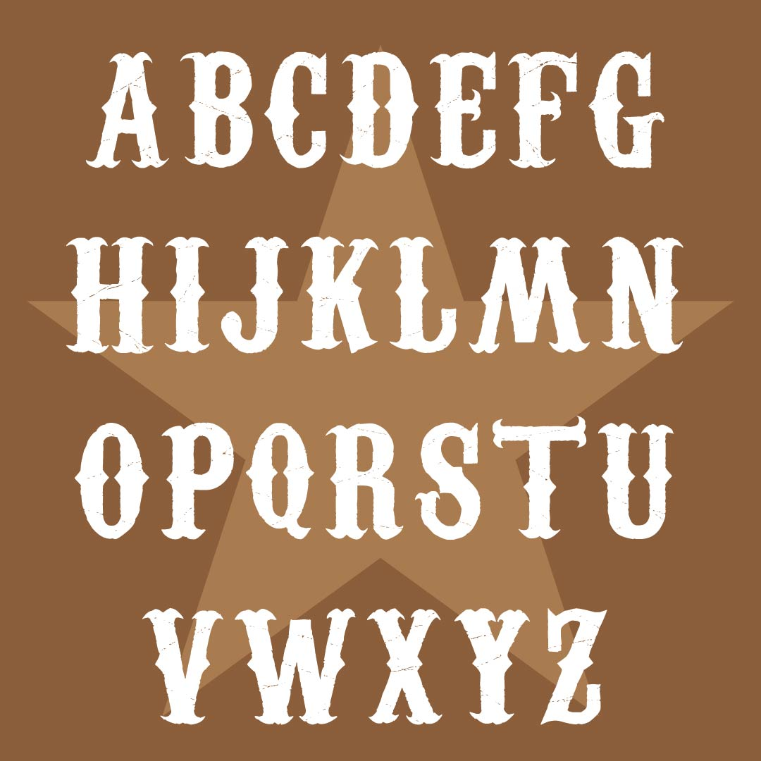 Printable Western Alphabet Letters