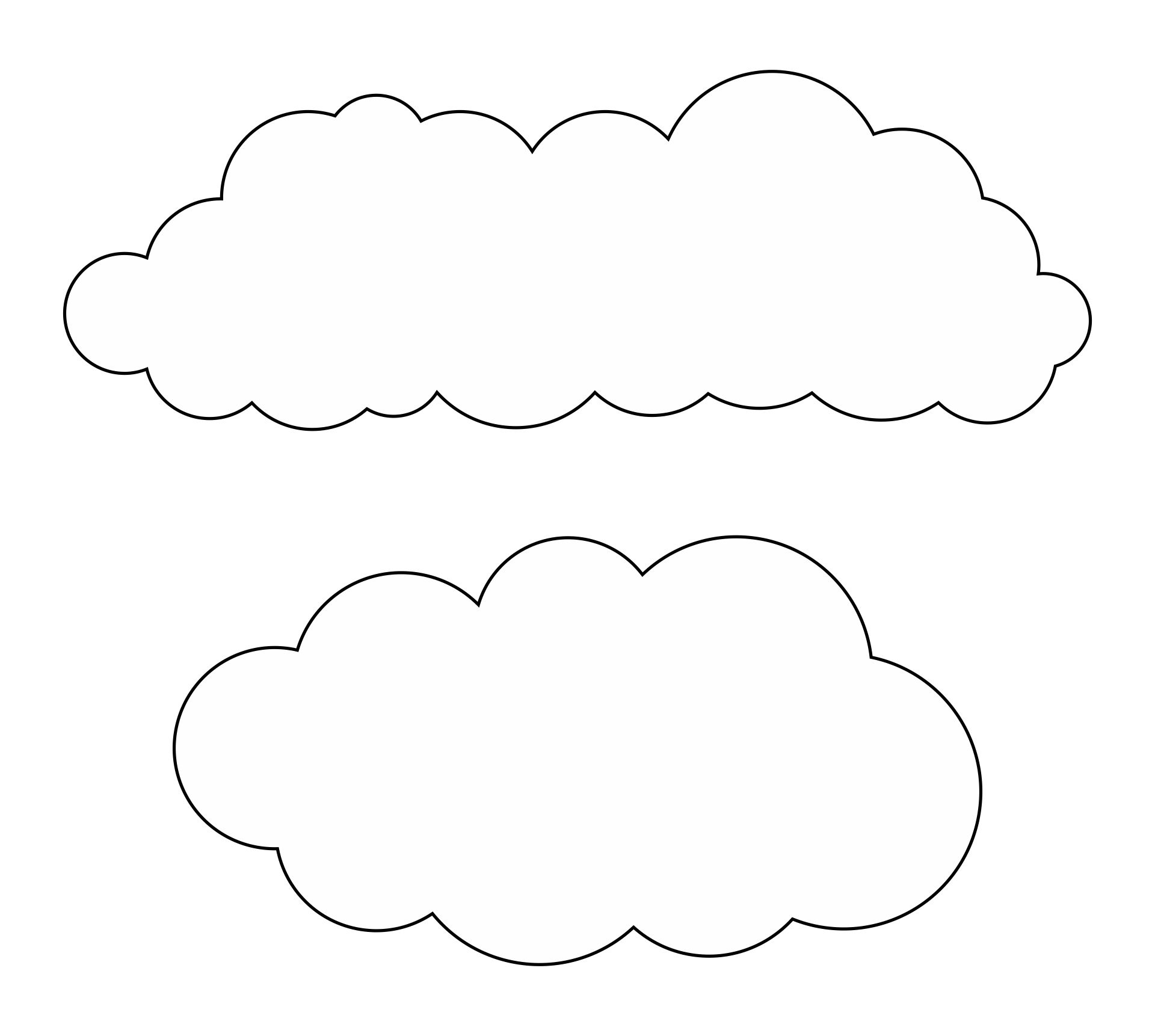 Large Printable Cloud Template