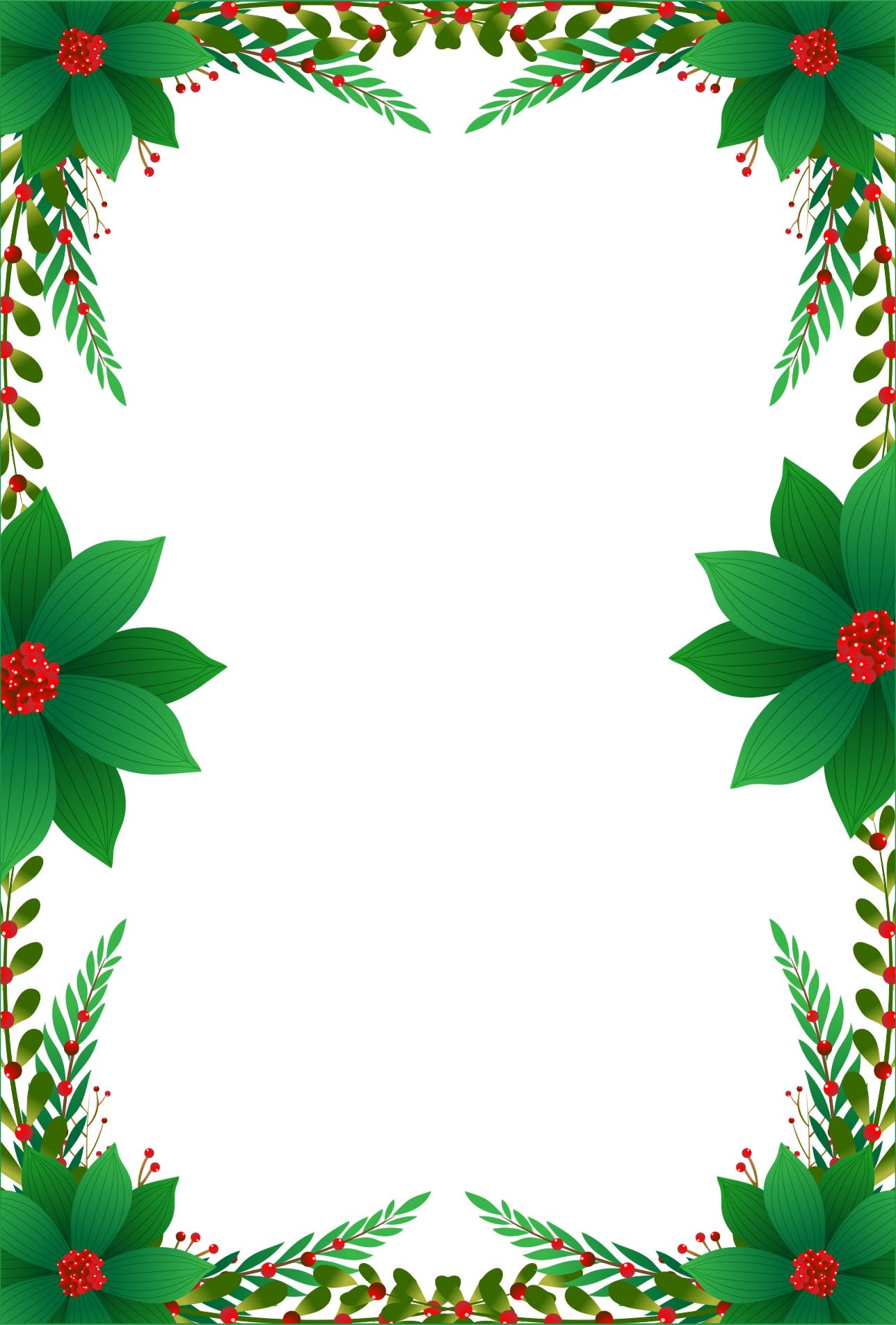 Printable Christmas Letterhead Paper