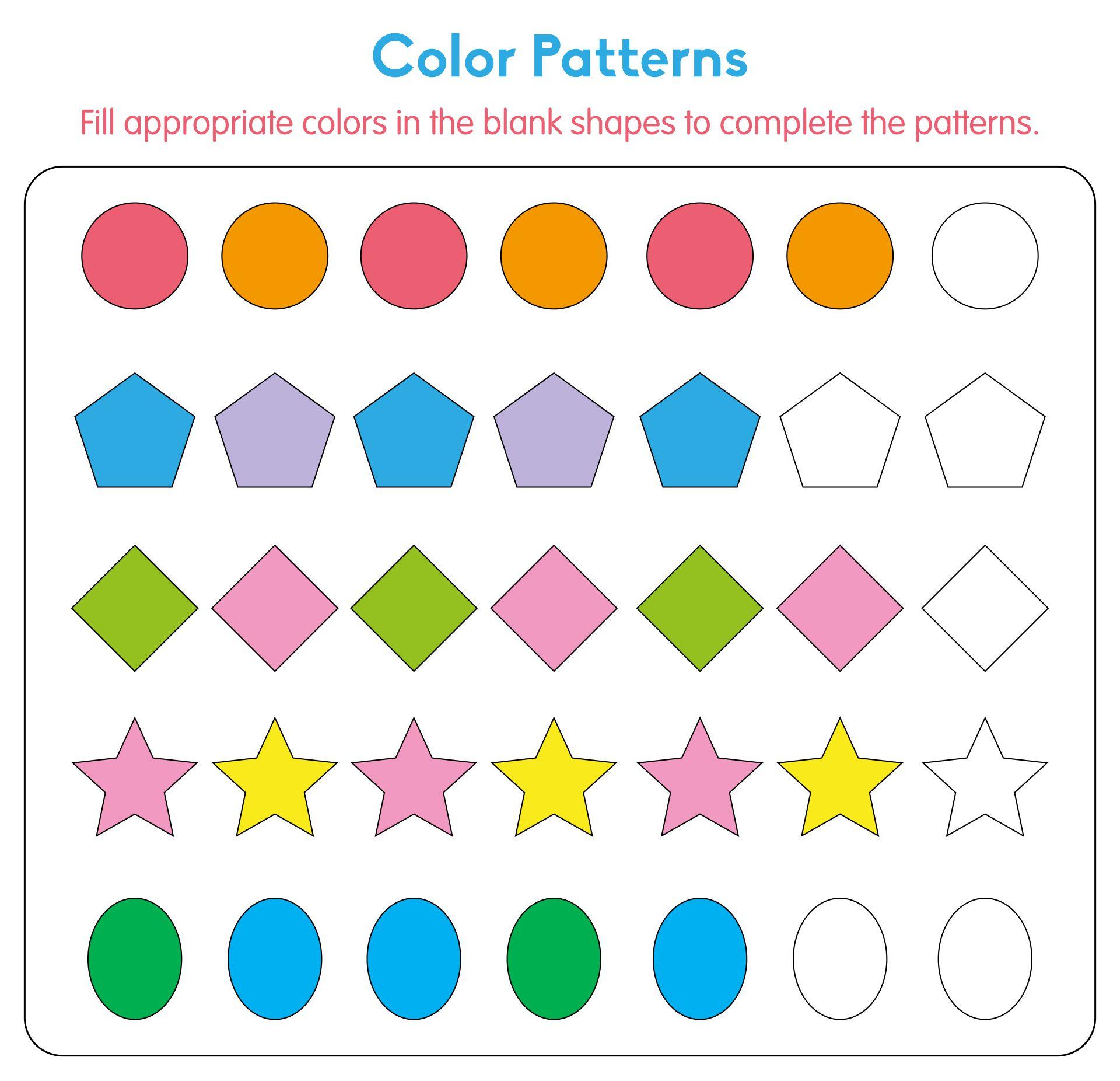 Halloween Worksheets  Printable Pattern