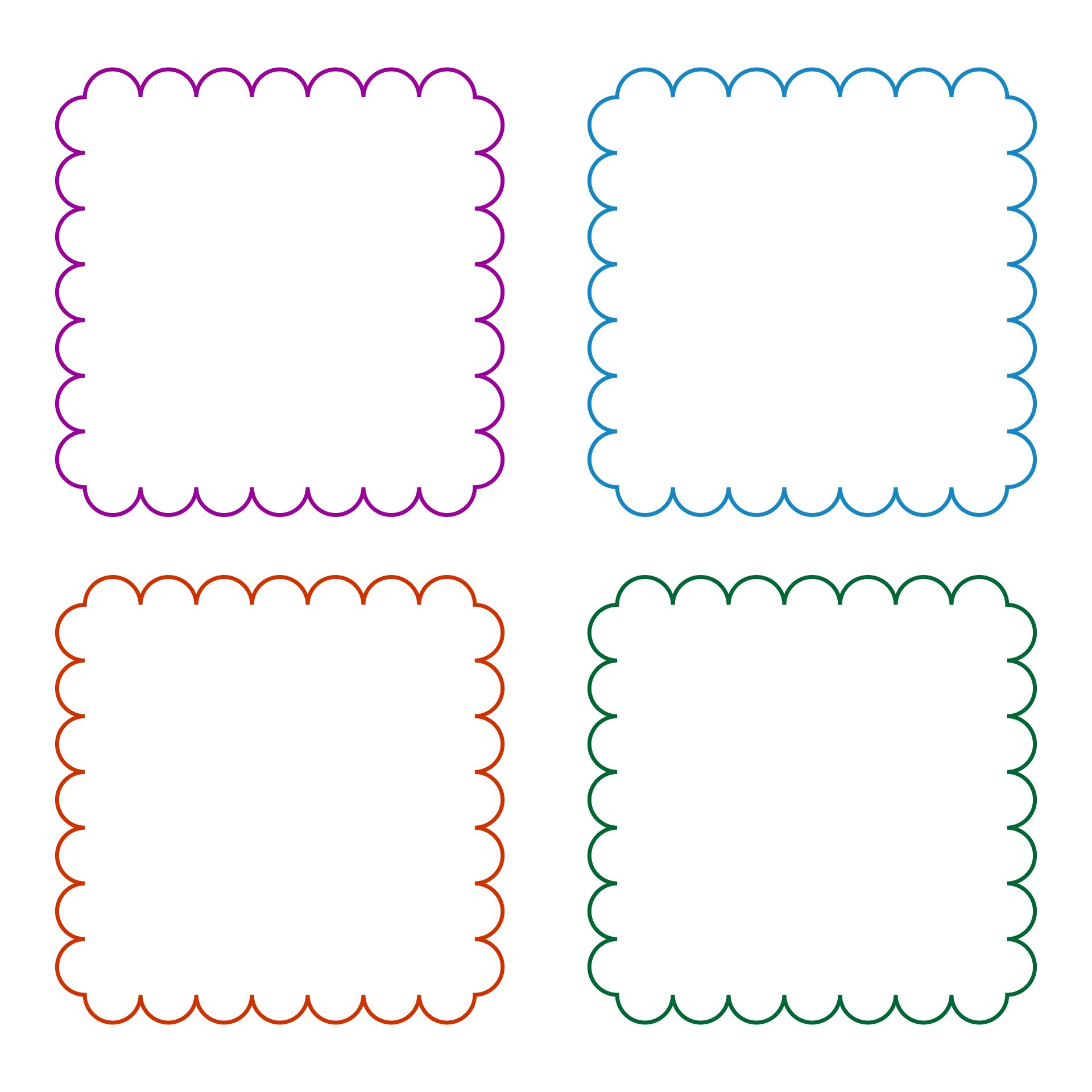 Printable Template For Scalloped Border