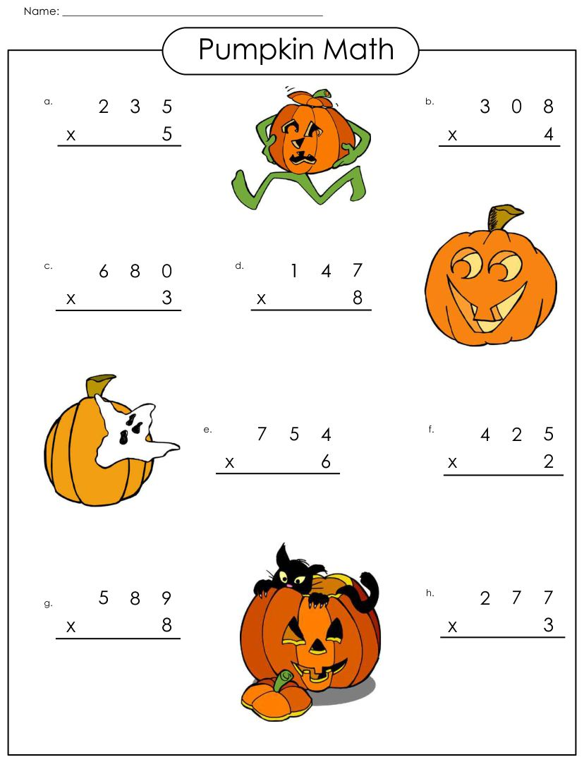 Halloween Math Printables Grade 1
