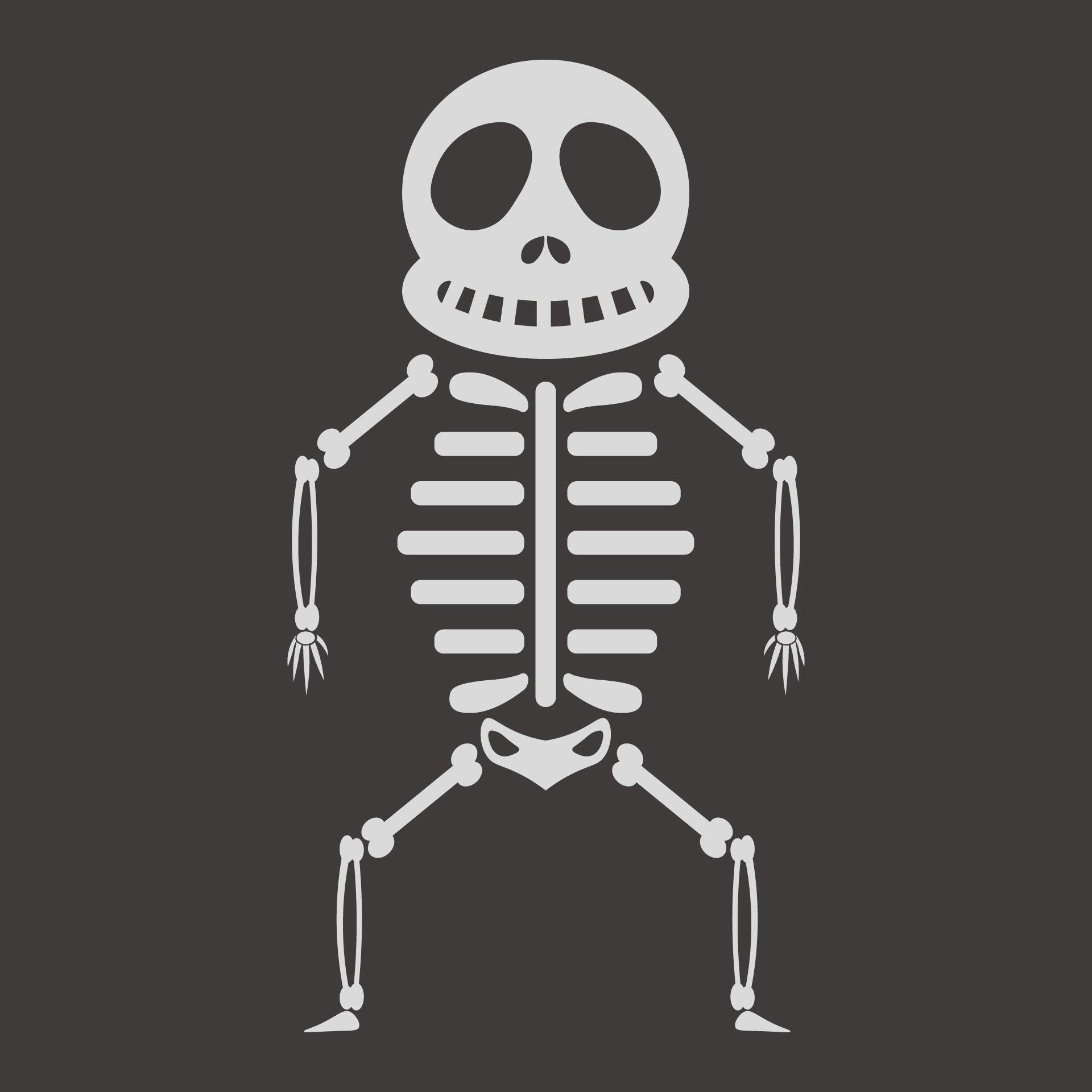 Halloween Skeleton Template Printable