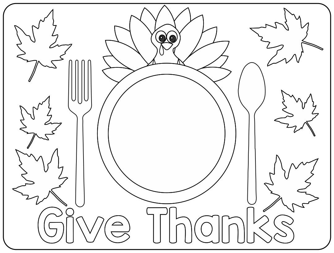 Thanksgiving Placemat Printables