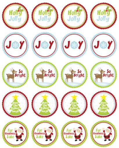 Christmas Printable Round Stickers