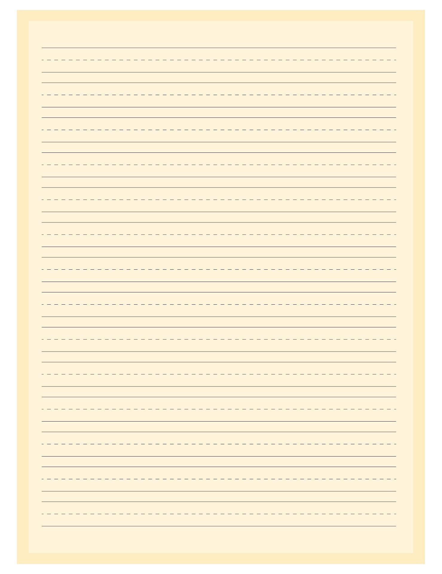 Printable Kindergarten Paper