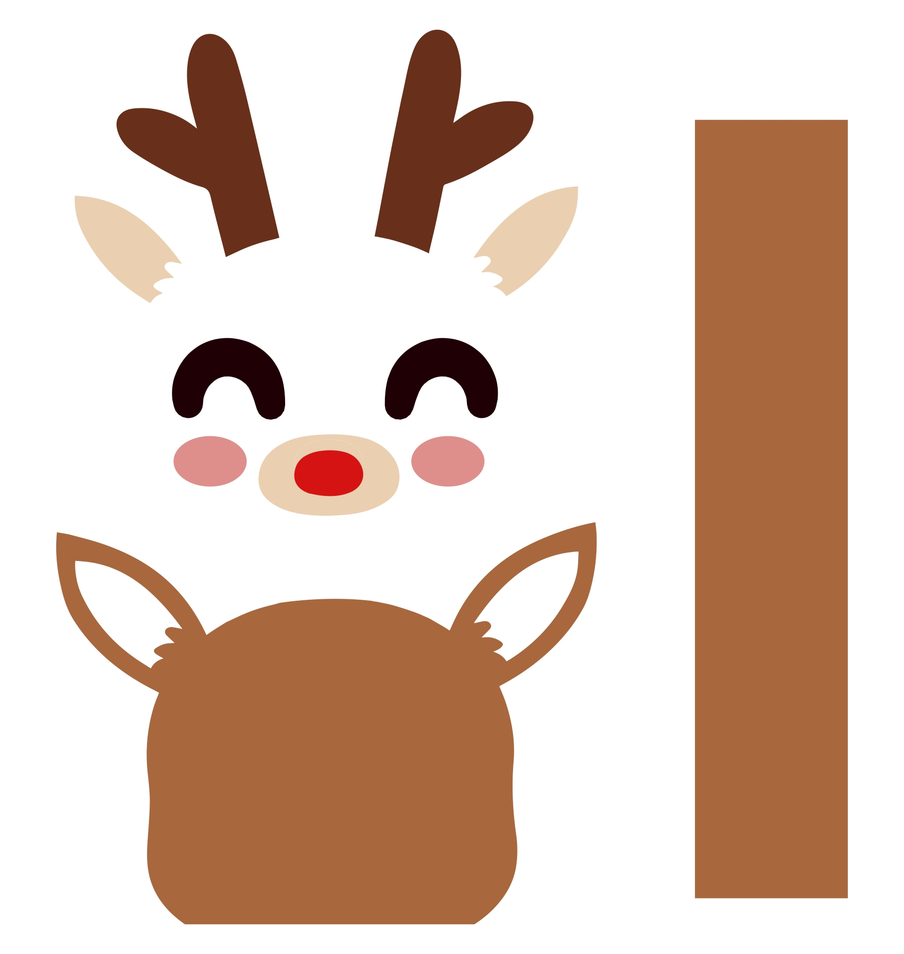 Reindeer  Printable Faces