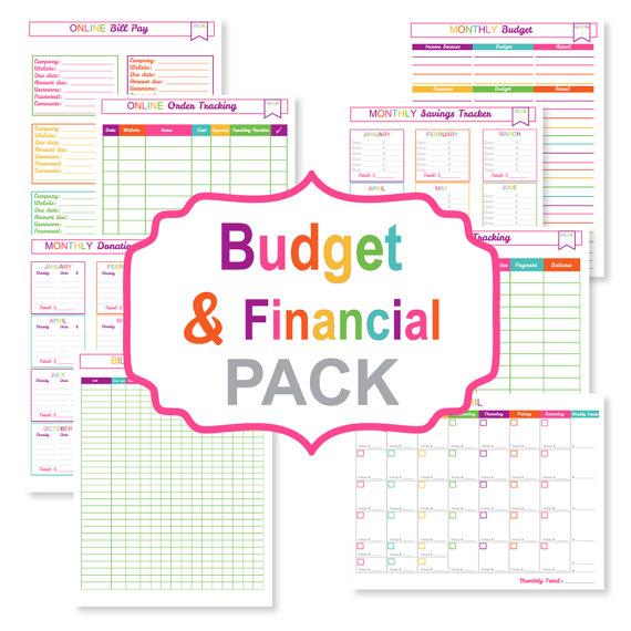 Budget Booklet Printable