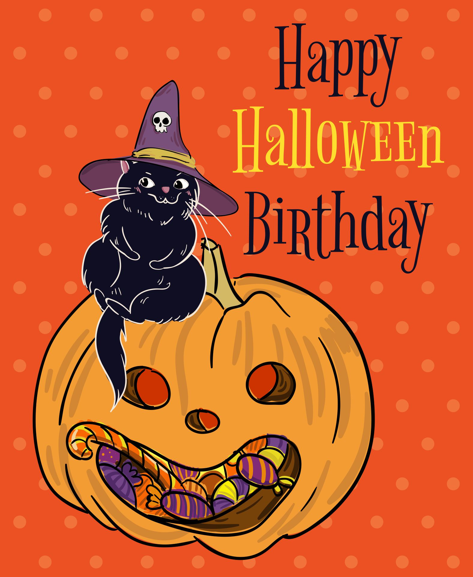 Printable Vintage Halloween Postcards