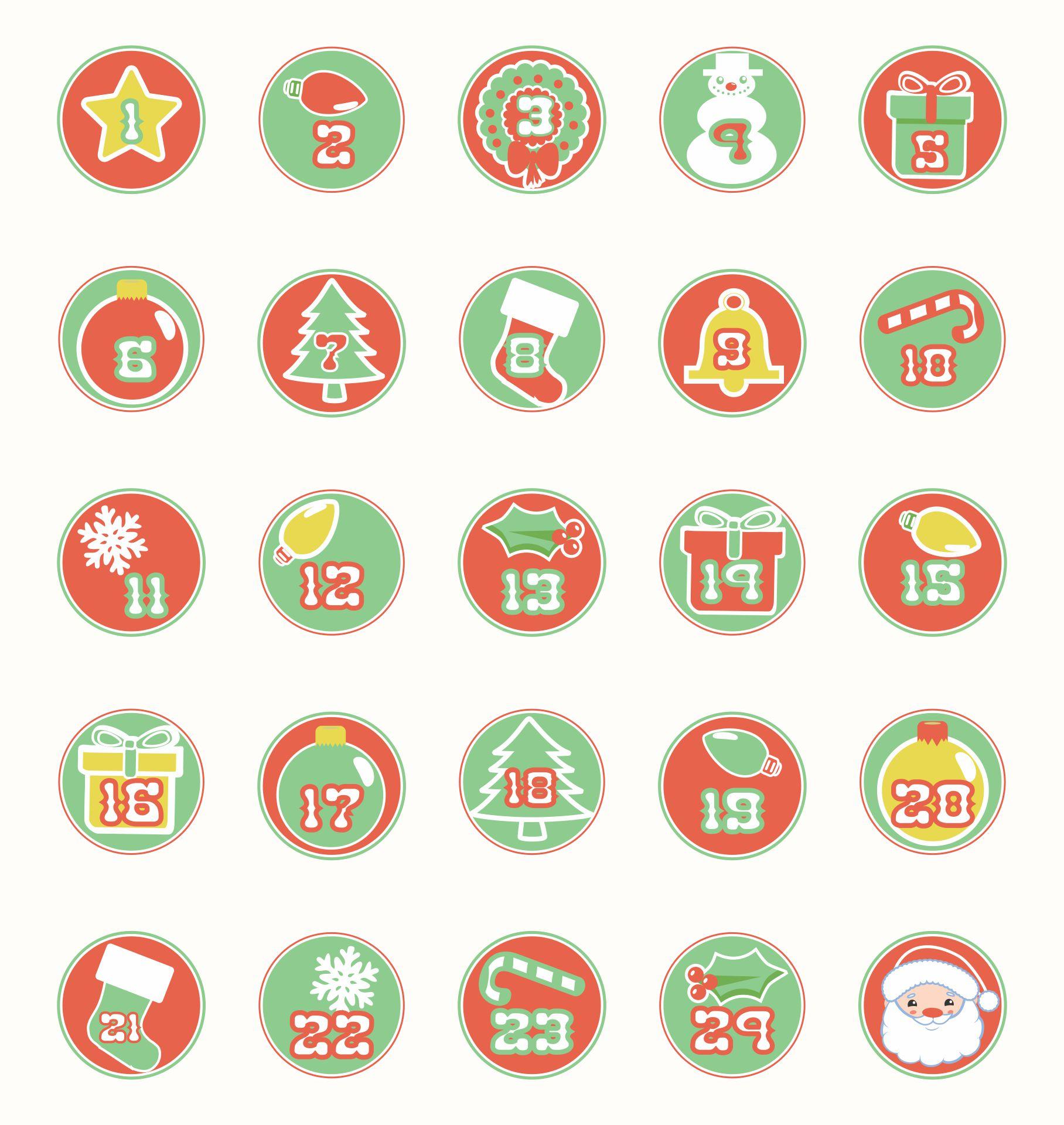 Printable December Calendar Numbers