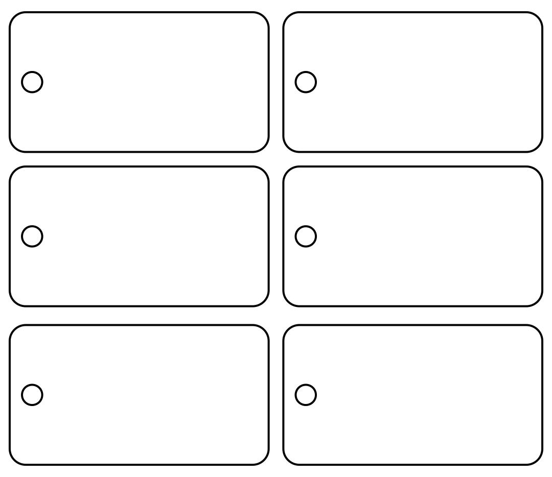 Printable Blank Christmas Tags