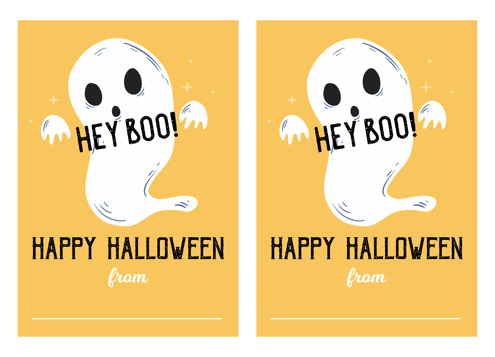 Printable Letters For Halloween Boo