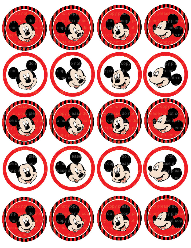 Mickey Mouse Printable Stickers