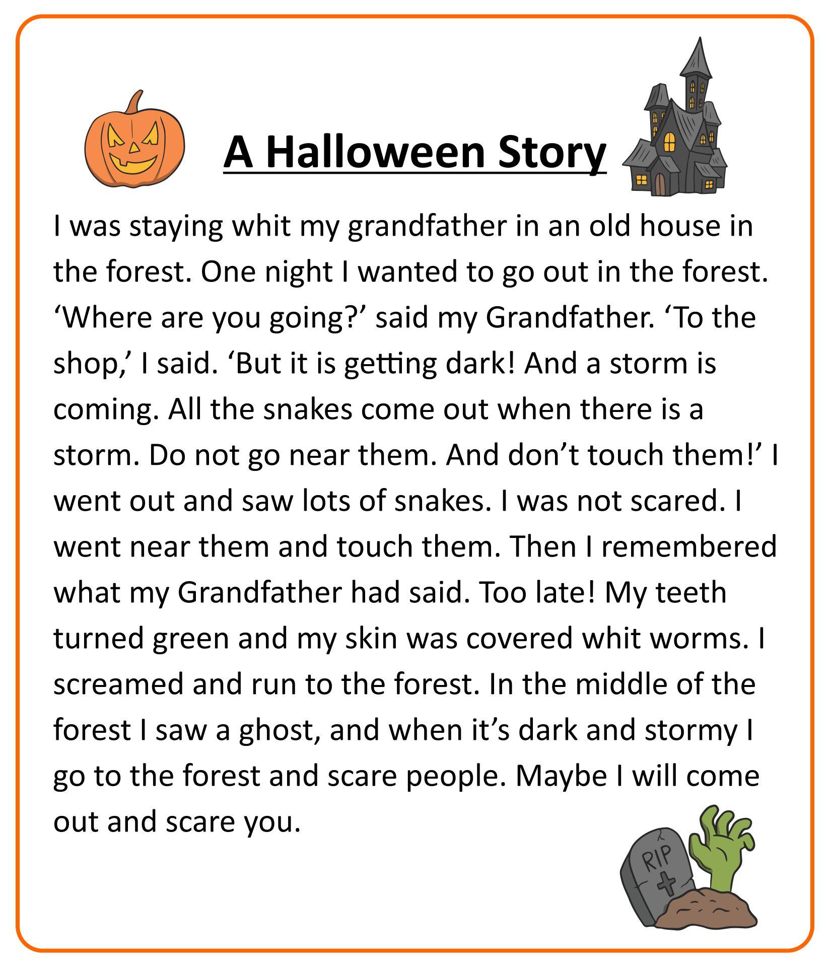 Printable Halloween Stories