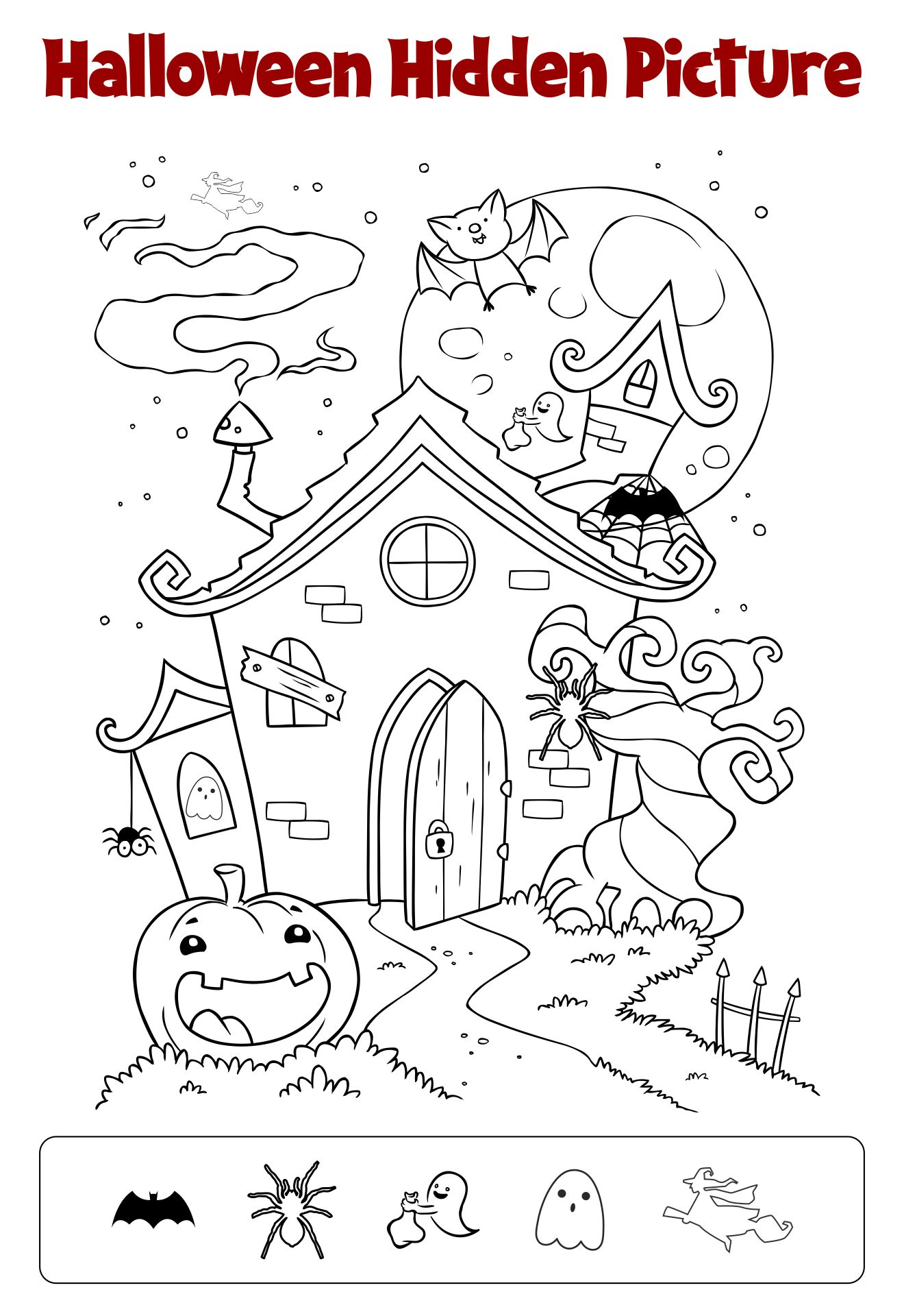 Printable Halloween Hidden Objects