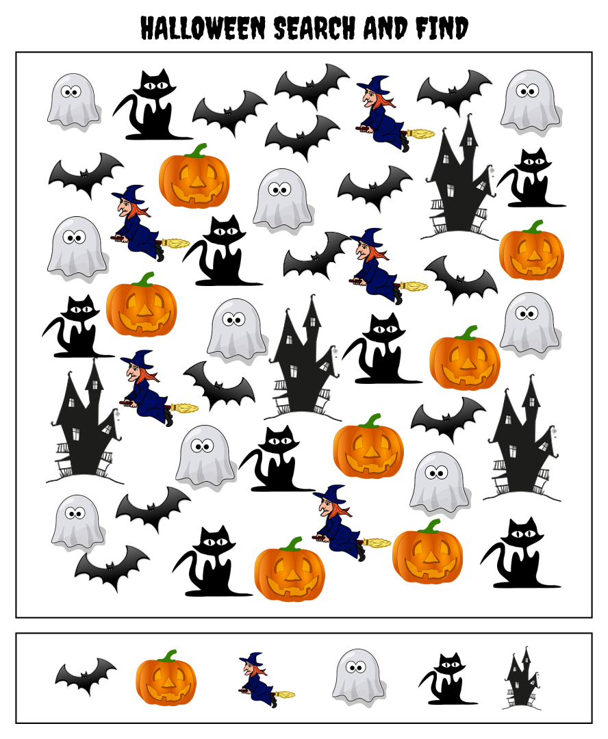 Halloween Seek And Find Printables