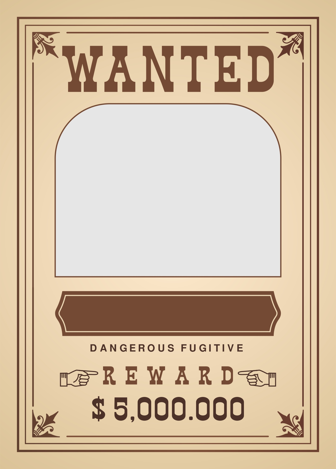 Old West Wanted Posters Printable