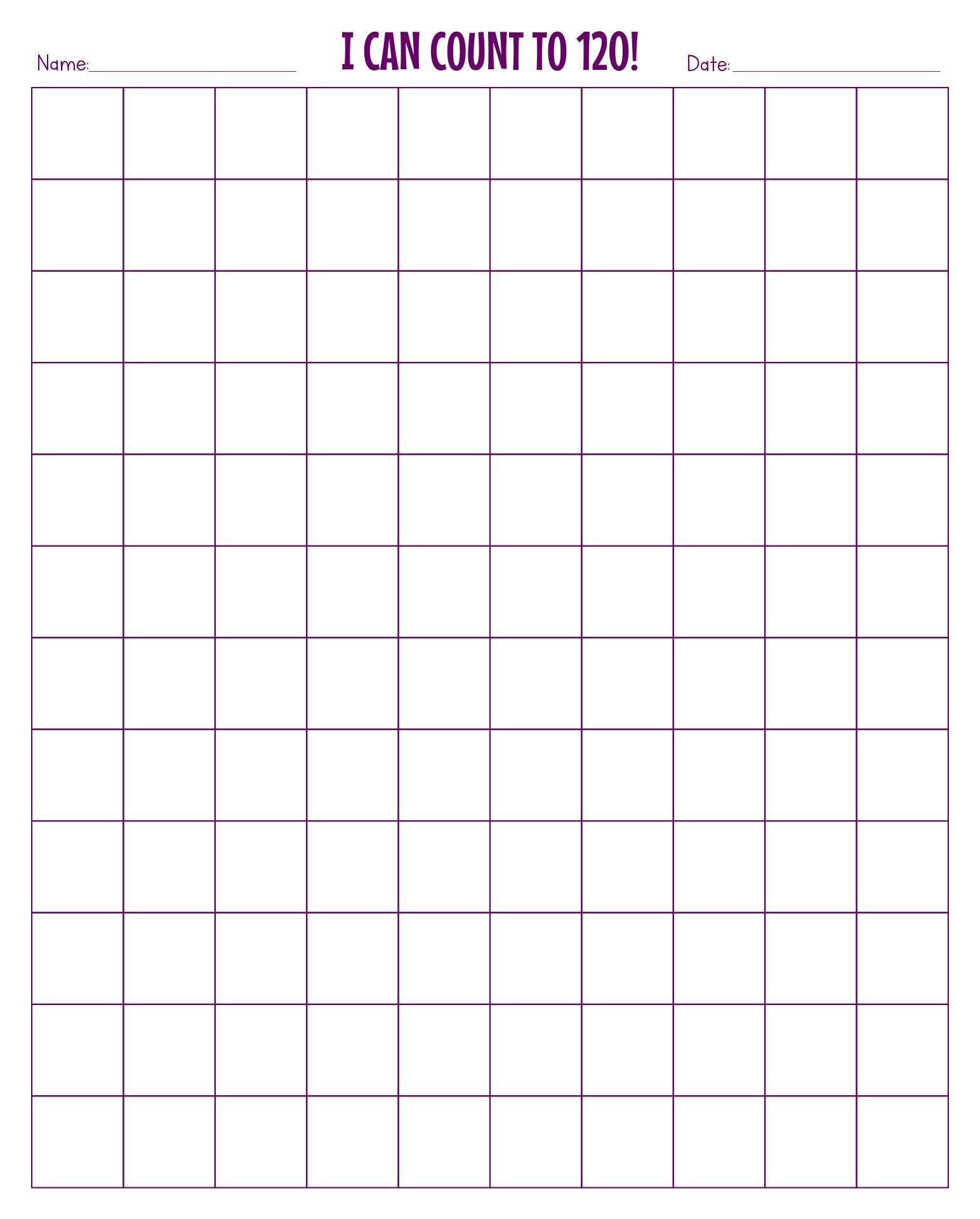 Printable Blank 120 Chart