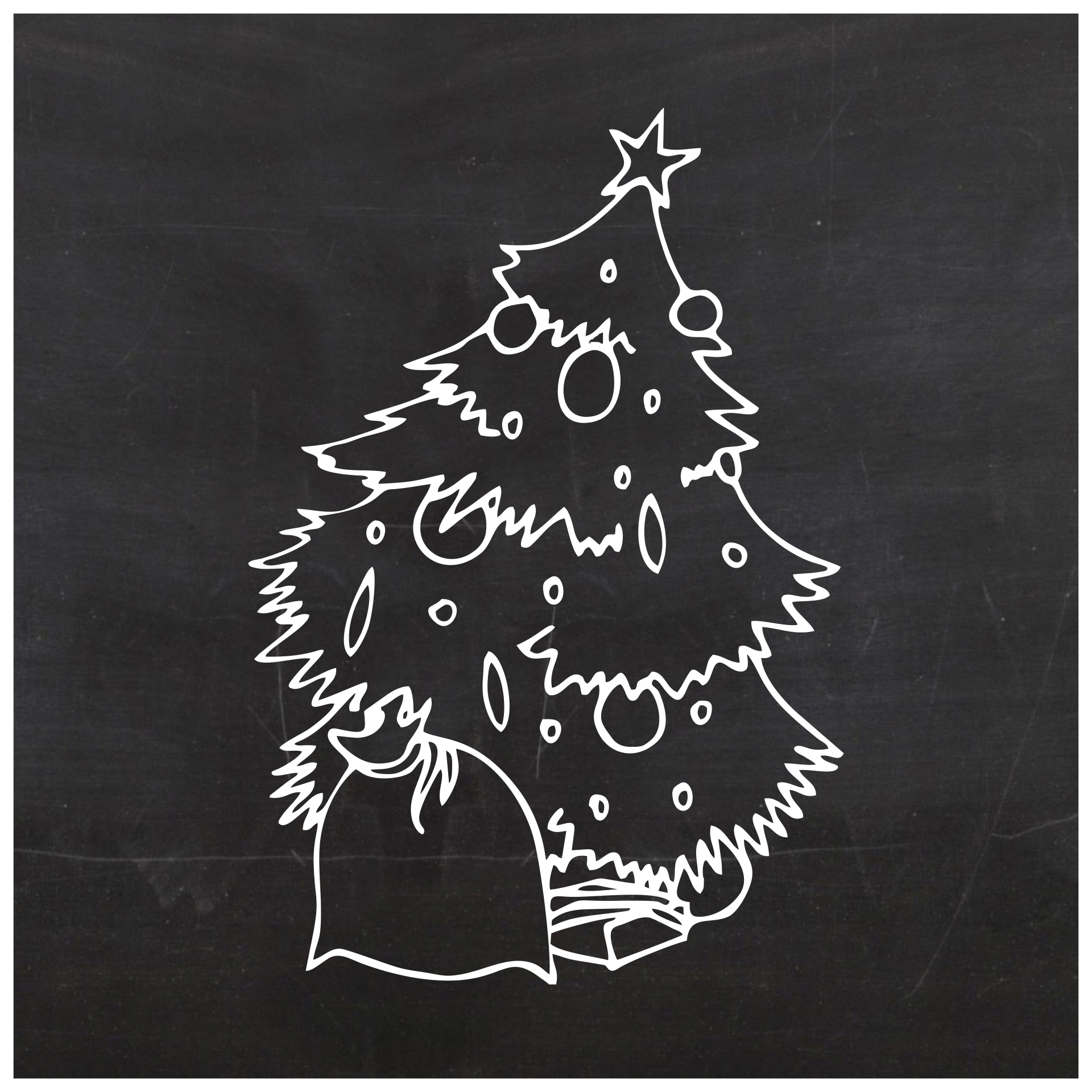Printable Chalkboard Christmas Tree