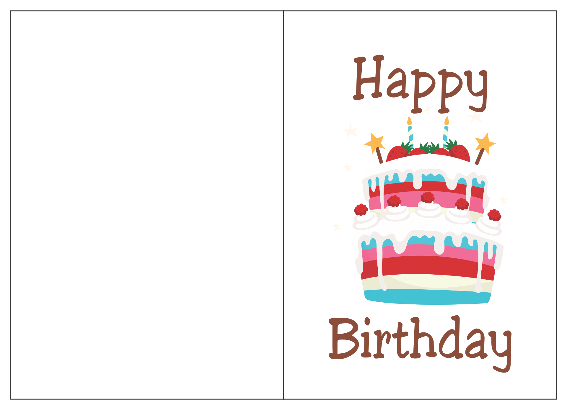 Printable Folding Birthday Cards For Wife