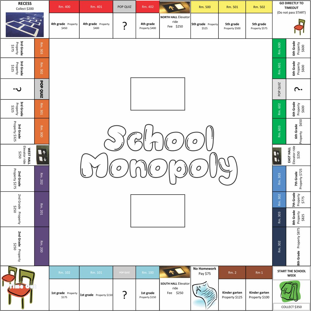 Printable Monopoly Board Game