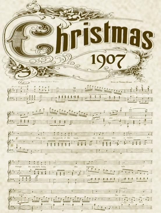Vintage Christmas Music Printable