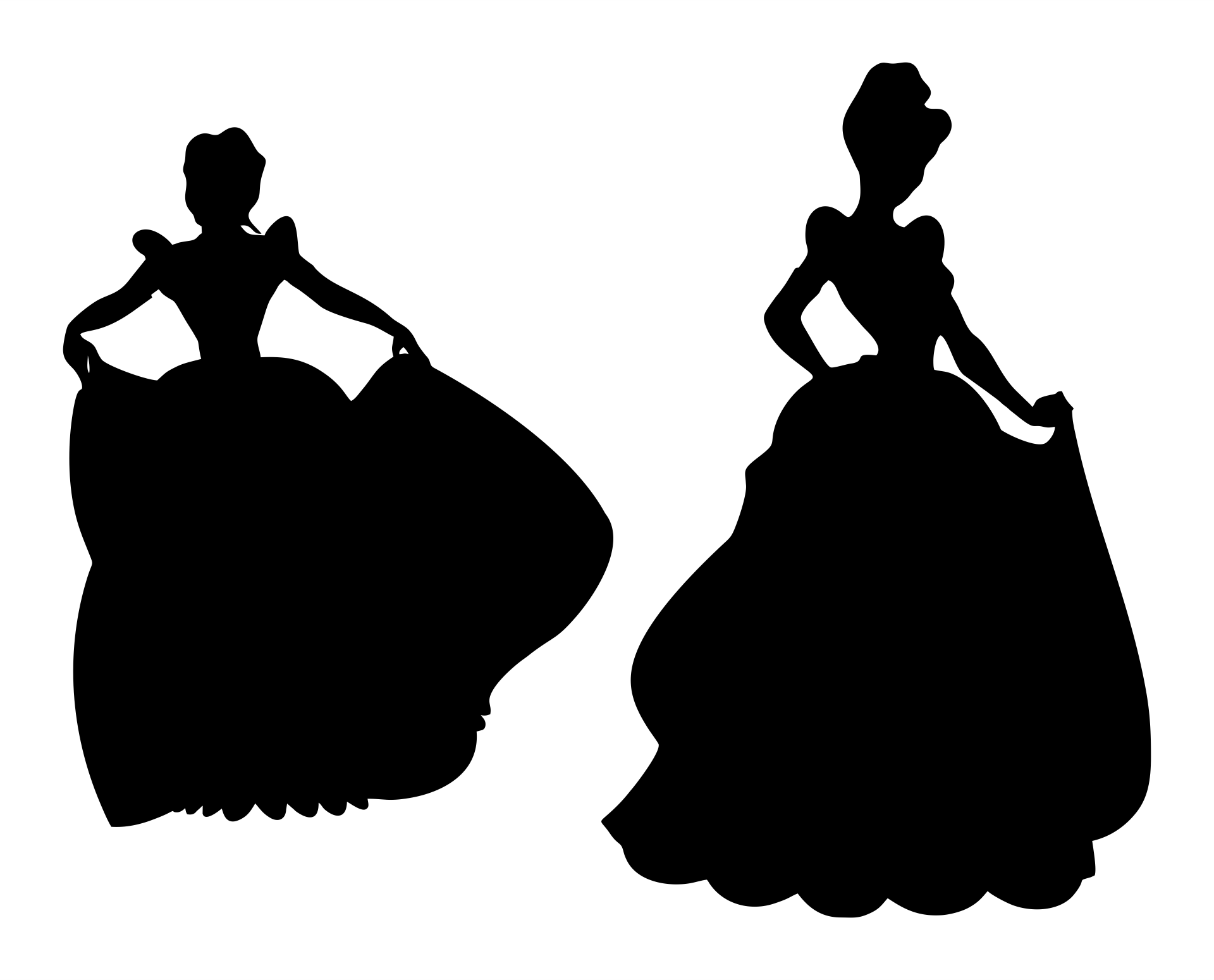 Printable Princess Silhouette