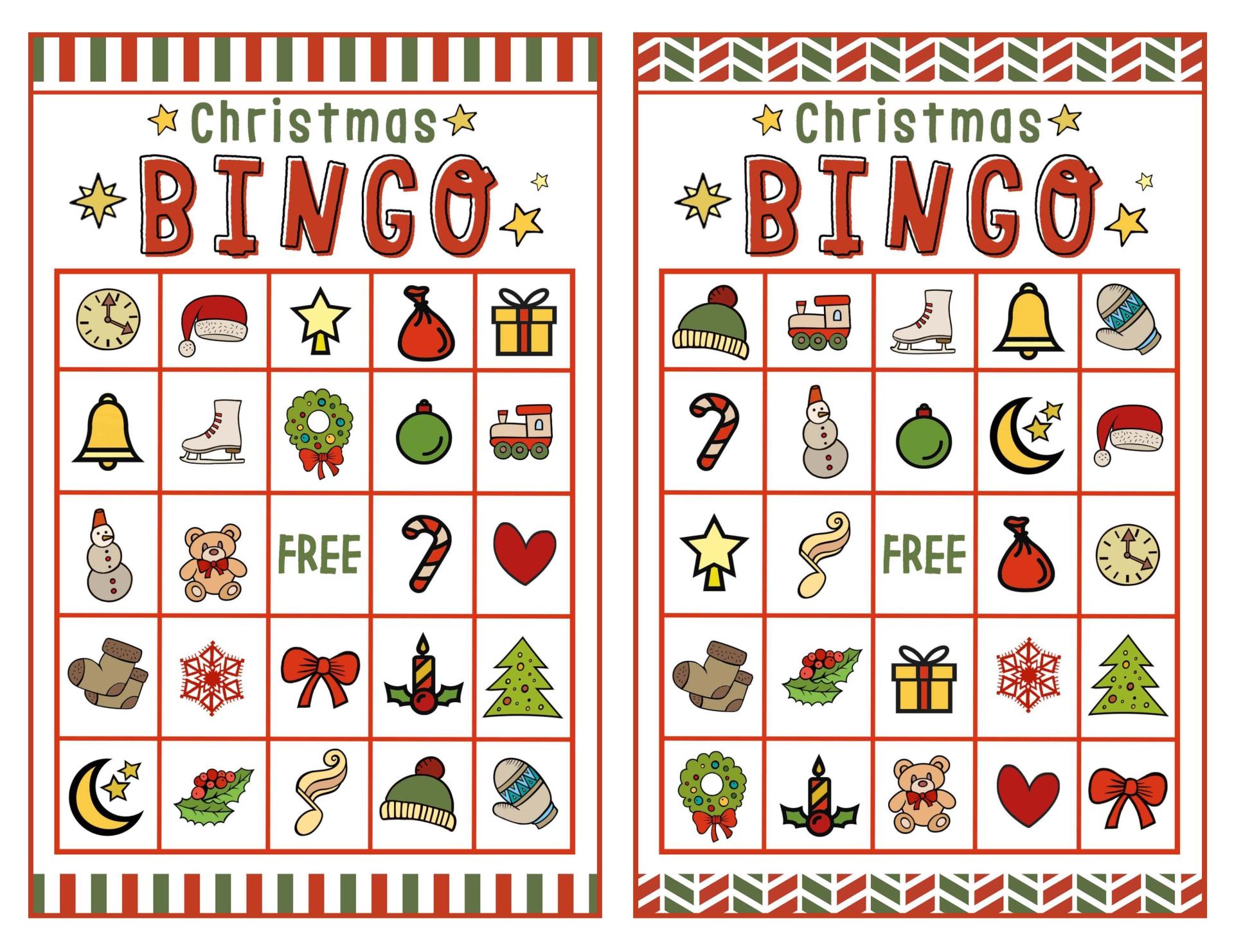 Christian Printable Christmas Bingo Sheets
