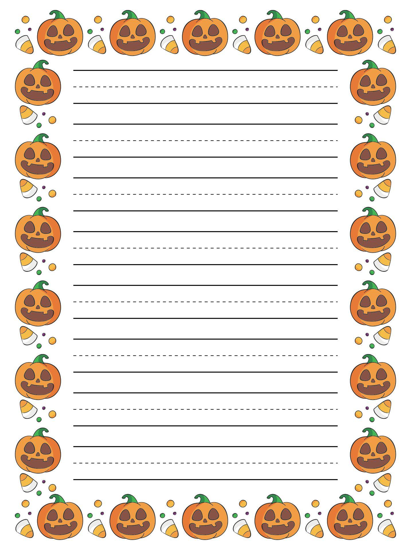 Printable Halloween Letter Head