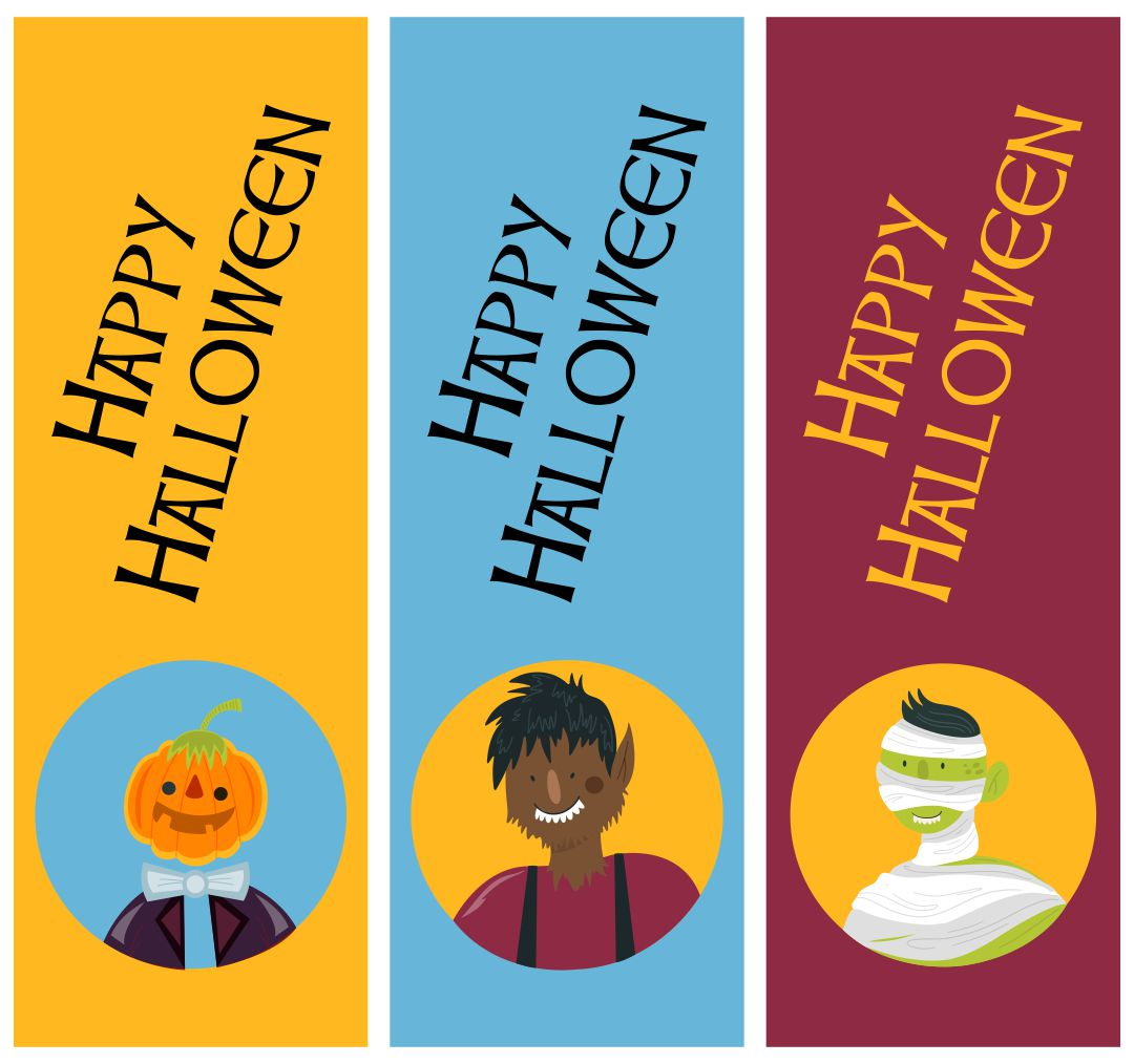 Printable Halloween Bookmarks To Color