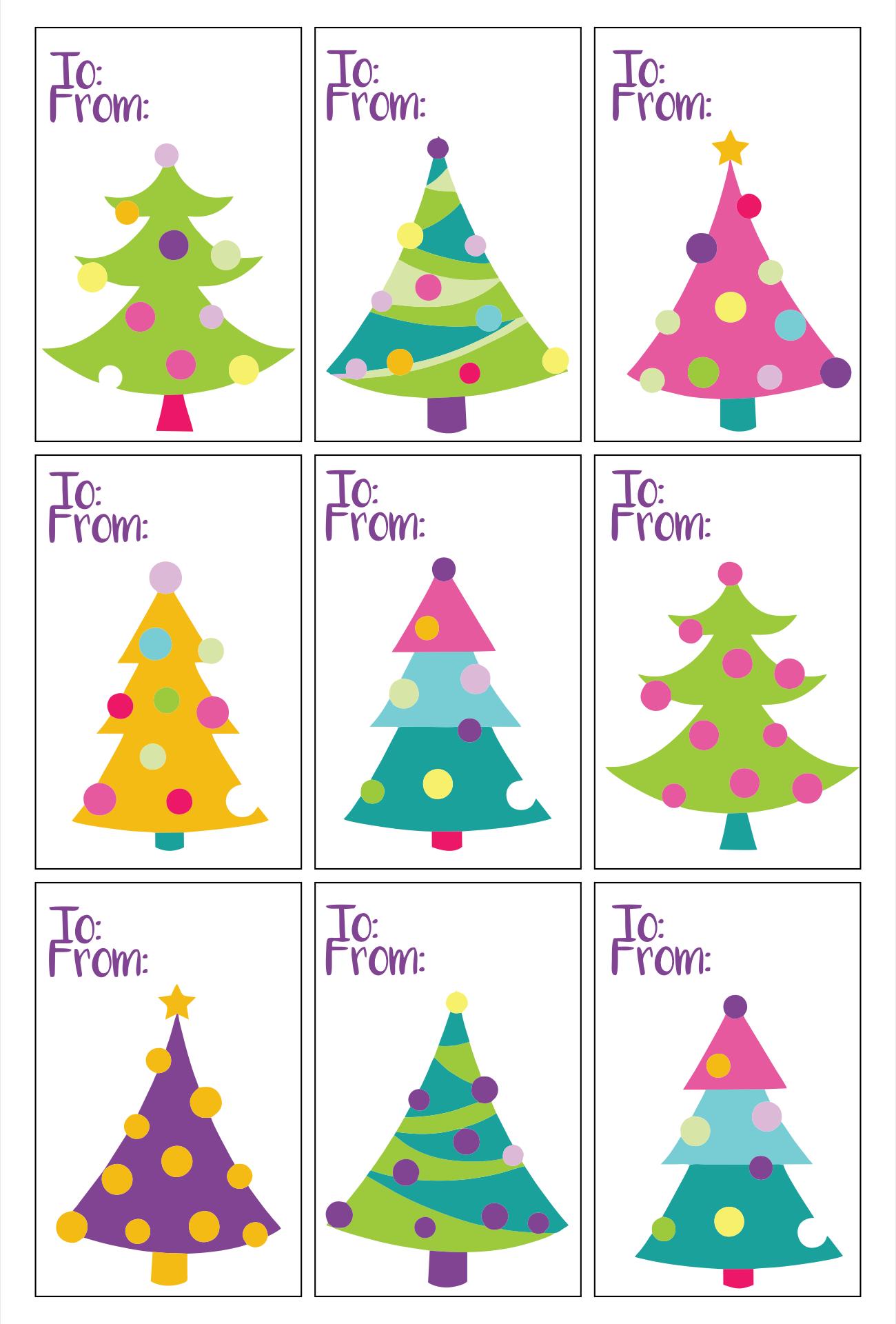 Printable Gift Tags Christmas Tree