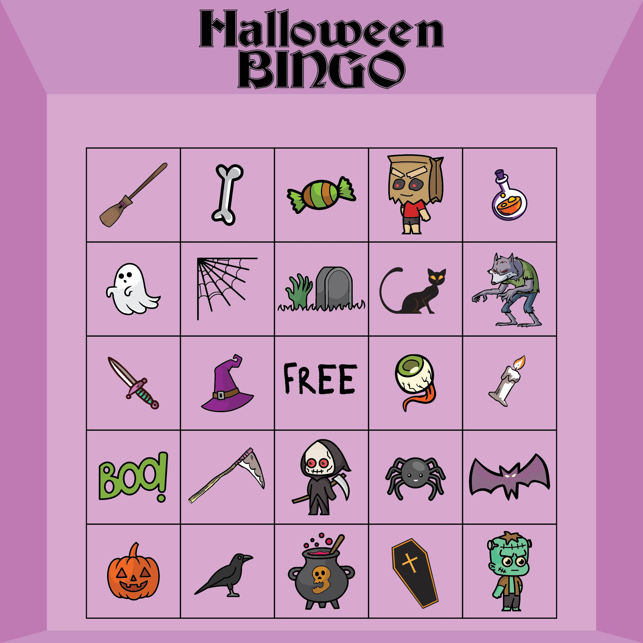 Halloween Party Games Printables