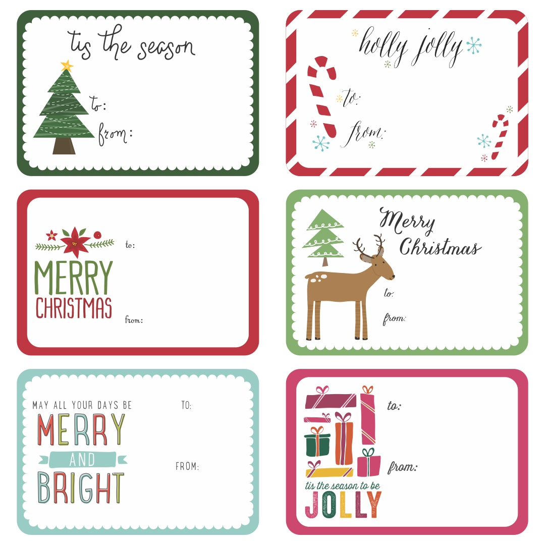 Fun Christmas Gift Tag Printables